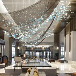 上海三甲港绿地铂瑞酒店空间设计——大堂图片