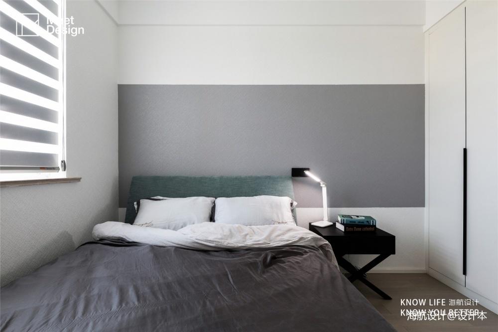color block,我的现代简约乐园——次卧图片