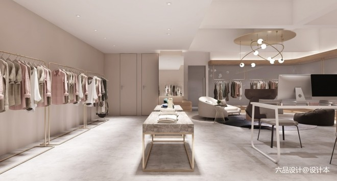 展厅平面设计图_商业展示148平米装修案例_效果图 - 展厅+直播间+拍照房 / 服装 ...