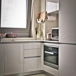 灰色+橙色现代简约——厨房图片