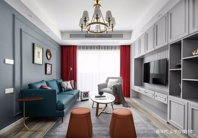 89平米三居住宅空间——客厅图片