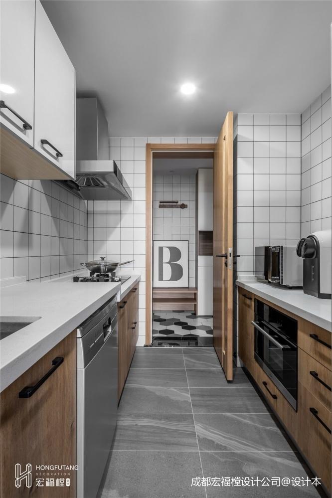 128平米北歐極簡廚房設計圖