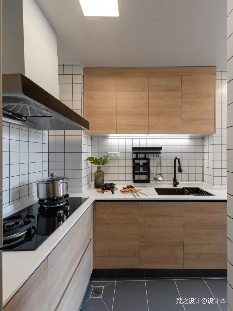 70平米現代簡約—廚房設計圖