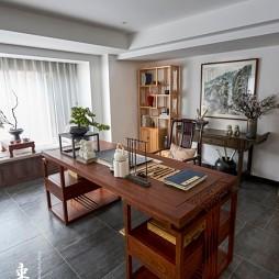 中式现代复式——书房图片