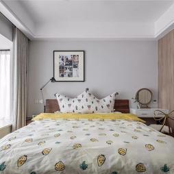 胶州三里河文苑110㎡北欧格调3室2厅——卧室图片