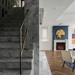 梵高蓝——楼梯图片