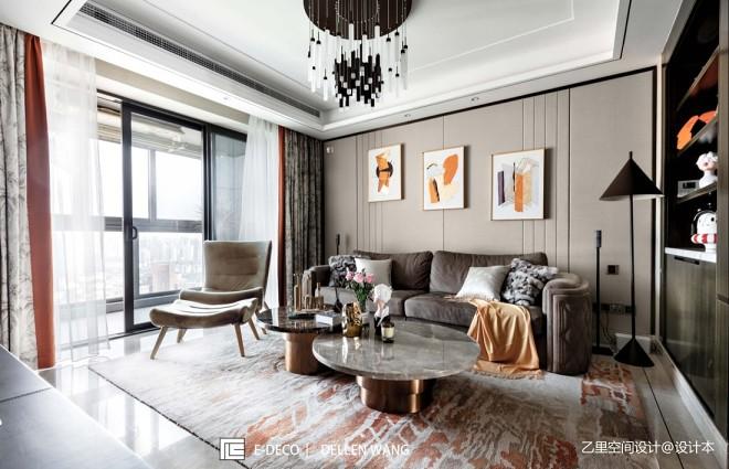 四居现代简约——客厅图片