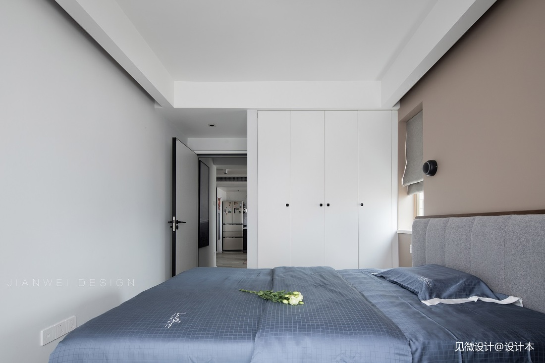 《至.简》简约小两居,满满的时尚格调感——卧室图片