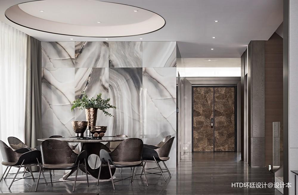 HTD新作 | 莫兰迪色演绎现代奢华空间——餐厅图片