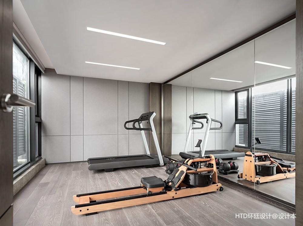 HTD新作 | 莫兰迪色演绎现代奢华空间——健身房图片