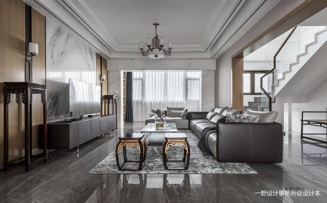 云水禅心—中式现代——客厅图片