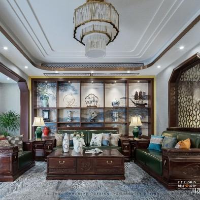 一套房子三種格調,中式別墅為愛融合——客廳圖片