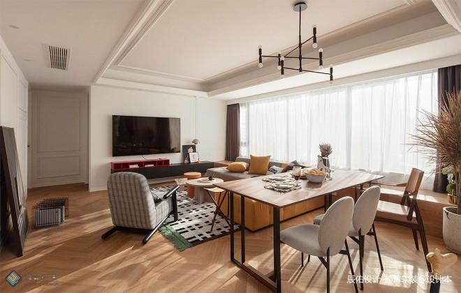 潮流混搭三居住宅——客厅图片