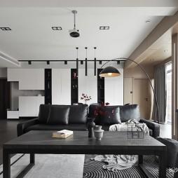 140平米黑白灰,4房改2卧室1书房——餐厅图片