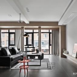 140平米黑白灰,4房改2卧室1书房——客厅图片
