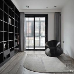 140平米黑白灰,4房改2卧室1书房——功能区图片