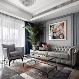 125㎡美式经典——客厅图片