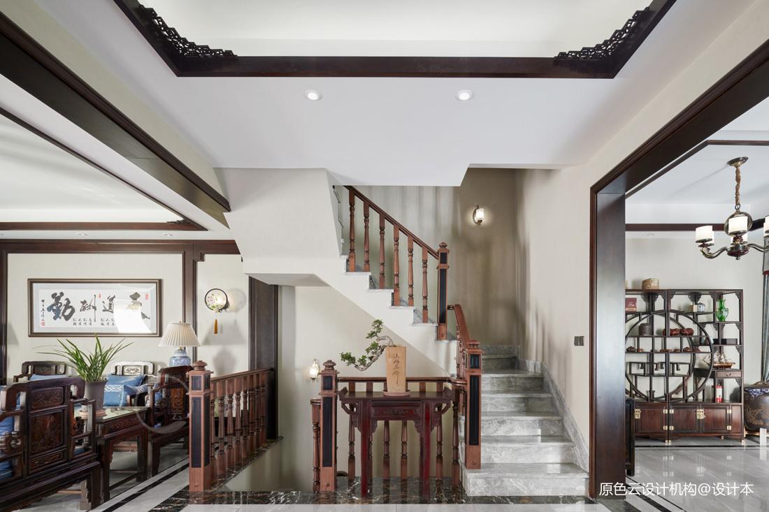 中式古典別墅豪宅——樓梯圖片