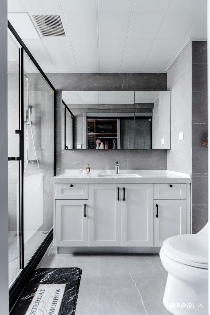 沢灰 | 现代or复古混搭——卫生间图片