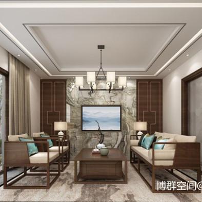 大气华美中式风格·室内原创家装效果图作品_3965924