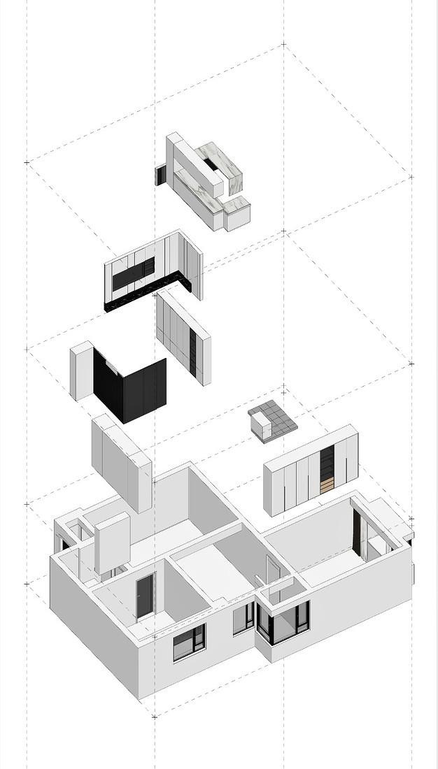 紧凑型两居的黑白艺术交响曲_3972