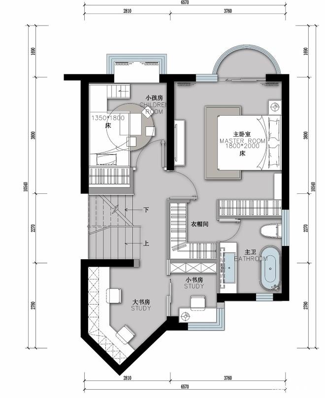 现代美学居室空间,有滑梯的童年会更有