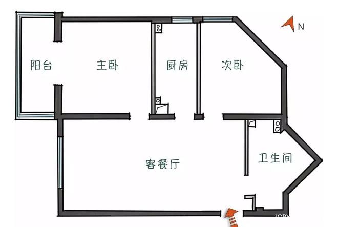 """客厅厨房卧室互""""借""""空间,打造全能格"""