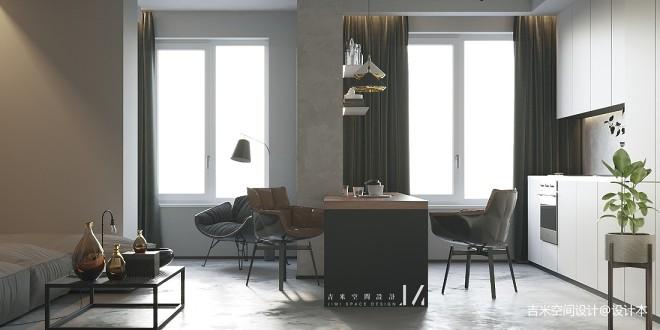 【吉米设计】现代|单身公寓_4023