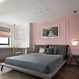 115平北欧极简风-卧室图片
