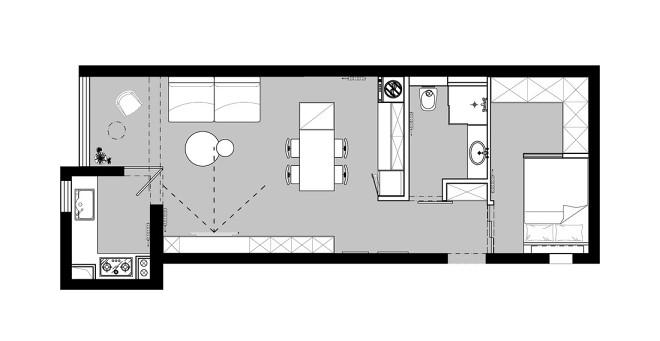 48平米小户型改造,家是心灵的岛屿。