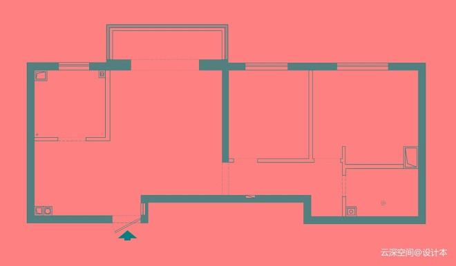 #设计师的家征集# 62㎡层次感小家
