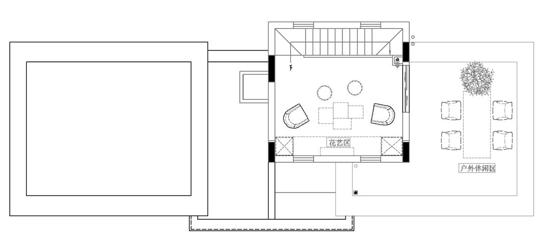 286平米别墅六房户型平面图4