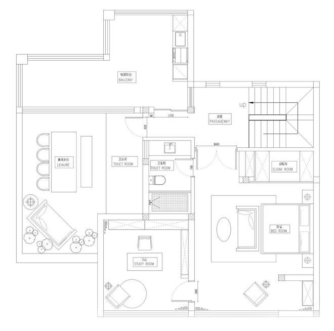 650平米别墅3F设计平面图