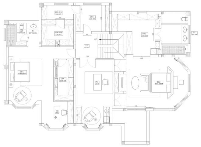 650平米别墅2F设计平面图
