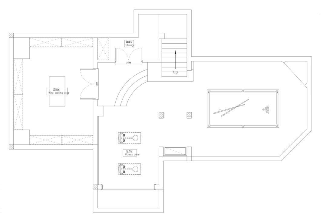 650平米别墅B1设计平面图