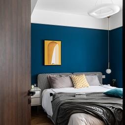 卧室蓝色装修效果图