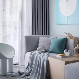 新款客厅窗帘布艺图片