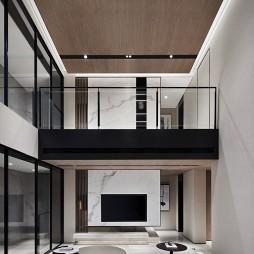 现代跃层客厅装修效果图