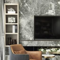 客厅电视墙带储物架图片