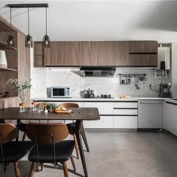 客厅厨房餐厅一体装修图
