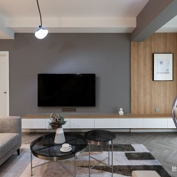 小平米客厅电视背景墙