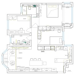 三室两厅两卫户型图2
