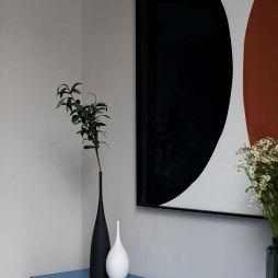 l型玄关柜背景画设计