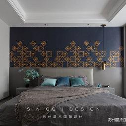 卧室背景墙纸设计