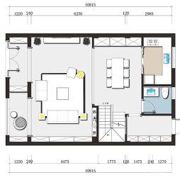 复式一楼户型图
