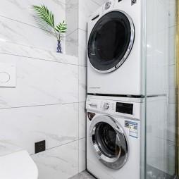 简欧卫生间洗衣机装修图