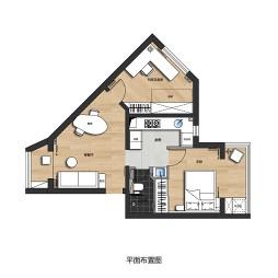 斜面小户型一室设计图