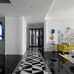 客厅走廊一体装修效果图