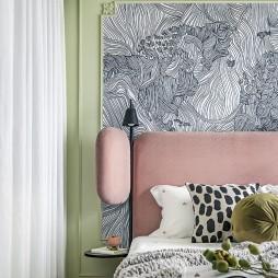 儿童房床头背景墙装饰画