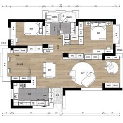 125平米三居室户型图